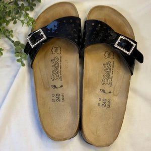 Black Patent Madrid Birki's Sandal